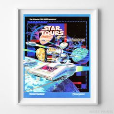 Disneyland Attractions Star Tours Home Decor Wall Art Poster - Prices from $9.95 - Click Photo for Details   -#disneyland#disney#poster#nursery#wallart#tomorrowland   #adventureland #fantasyland #frontierland #StarTours