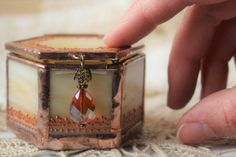 Personalized engagement ring box Wedding ring box with copper