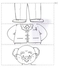 Crafts,Actvities and Worksheets for Preschool,Toddler and Kindergarten.Free printables and activity pages for free.Lots of worksheets and coloring pages. Preschool Worksheets, Preschool Activities, Grandparents Day Crafts, Puzzle Crafts, Family Theme, My Themes, Coloring Pages For Kids, Kids Learning, Kindergarten