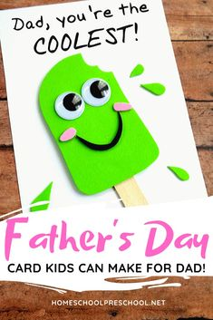 Father's Day is coming up! Let your kids show him how much he's loved. If you're looking for a fun Fathers Day craft your kids can make, I've got exactly what you're looking for right here! ideas father Easy DIY Fathers Day Craft That Your Kids Can Make Kids Fathers Day Crafts, Fathers Day Art, Gifts For Kids, Fathers Day Ideas, Happy Fathers Day Cards, Diy Gifts For Fathers Day, Fathers Day Cards Handmade, Handmade Cards, Daycare Crafts