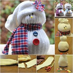 Easy and Cute Winter Decoration: Charming DIY Sock Snowmen