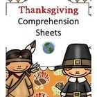 November+Comprehension+Pack+has+5+worksheets+which+focus+on+comprehension+and+are+ideal+for+Kindergarten+and+first+grade.+Each+sheet+has+a+short+te...