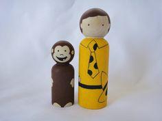 Curious George Peg Doll Set