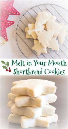 The Best Simple Two Way Shortbread Cookies, the ultimate melt in your mouth Traditional or brown sugar. Your new Shortbread recipe. Cake Mix Cookie Recipes, Best Cookie Recipes, Sugar Cookies Recipe, Holiday Recipes, Dinner Recipes, Christmas Recipes, Cookie Tray, Easy Butter Cookies, Short Bread Cookies Easy