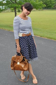 Stripes with polka dots on Juggling Chic