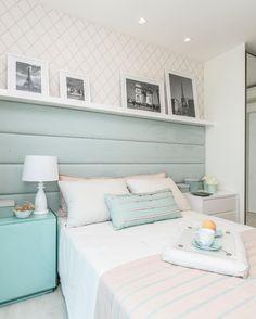 Quarto//Azul//cores pasteis @decoredecor Decor, Furniture, House Design, Room, House, Bedroom Inspirations, Small Bedroom, Bedroom Decor, New Room