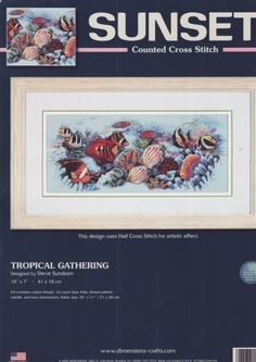 Cross Stitch Charts, Cross Stitch Patterns, Cross Stitches, Cross Stitch Animals, Stitch 2, Nature Animals, Tropical Fish, Crafty, Embroidery