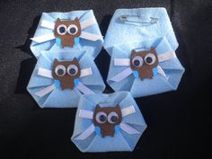 48pc Dirty Diaper Game Baby Shower Owl Theme by BumBeaCompany, $22.99