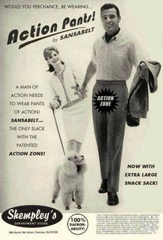 Action Pants! By Sansabelt. Whatever your era, capture your life and memories at http://www.saveeverystep.com