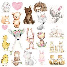 Cute Illustration, Watercolor Illustration, Animal Drawings, Cute Drawings, Baby Animals, Cute Animals, Baby Art, Watercolor Animals, Cute Images