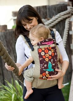 """Beco Butterfly II baby carrier in Niko. I totally bought this pattern because Niko means """"smile"""" in Japanese and the pattern makes me smile."""