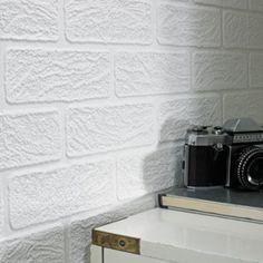 Super Fresco Paste The Paper Brick White Wallpaper | Departments | DIY at B&Q