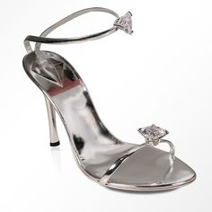 Why shoes for women by Alberto Venturini Strappy Silver Jeweled Sandal... ($230) found on Polyvore