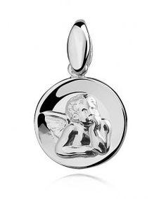 Stříbrný medailonek s andělíčkem je vhodný i pro děti!