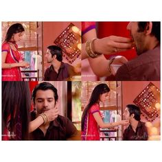 Such a sweet scene....Even when Khushi's angry with Arnav, she never fails to be a good wife to him.