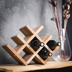 Informations About Wine bottle stand, Wood Wine Rack, Wine shelf for bottles, bottle shelf for wine, Oak Wine Rack, Rustic Wine Racks, Wine Rack Wall, Wine Bottle Rack, Bottle Stoppers, Bottle Holders, Wine Bottles, Bottle Opener, Wine Shelves