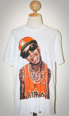 Tyga Hip Hop Rapper White Pop Rock Unisex Women T-Shirt Size L