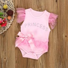 Baby Girl Clothes Bowknot Lace Princess Romper Jumpsuit Outfits – mybabyclothingstore