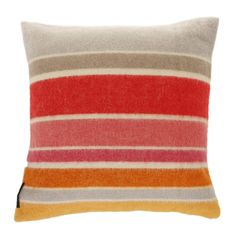 This colourful Roudoudou cushion from Sonia Rykiel Maison features mixed stripes in sugary sweet tones of red, orange & pink with breaks of grey & white. Made from wool & mohair this cushion has a ...