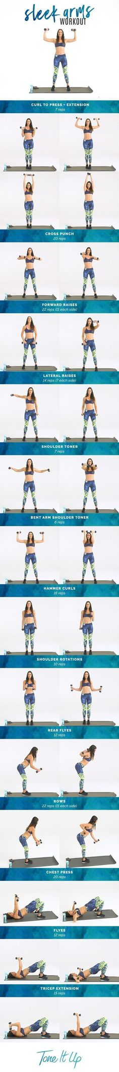Get ready to FLEX, girl! Sleek Arm Workout on ToneItUp.com