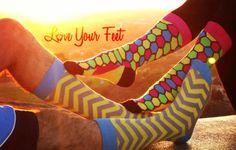 Love Your Feet Socks shinning bright