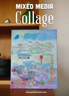 An engaging and stimulating Activity for Seniors! Mixed Media Collage activities are especially beneficial for people living with dementia.  Dementia and creativity mix well together, producing works that are original and daintily surprising.