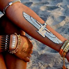 temporary silver and gold foil tattoos / Egyptian + Tribal / Child of Wild