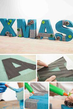 Crea tu adorno o tus letras favoritas para decorar cualquier rincón de tu casa.