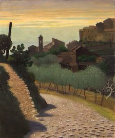 """Painter: Félix Vallotton. """"There is a green in the air, Soft, delectable"""" From the poem Letter In November by Sylvia Plath."""