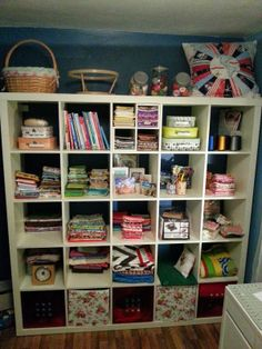 Ooooh it's been a fun old couple of weeks. After a trip to Ikea, my sewing room got a bit of a jig-up and I can show you almost all of it. Sewing Room Storage, My Sewing Room, Craft Shed, Old Couples, Room Tour, Stitching, Bookcase, Ikea, Shelves