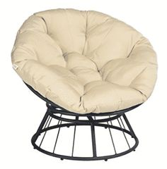 ART TO REAL 360 Swivel Papasan Chair Thickness Cushions, Indoor Outdoor Furniture Chair Deep Seating Moon Chair Glider, Solid Twill Fabric Khaki Cushion Papasan Chair, Swivel Chair, Chair Cushions, Swivel Glider, Outdoor Furniture Chairs, Patio Chairs, Arm Chairs, Accent Chairs, Outdoor Lounge