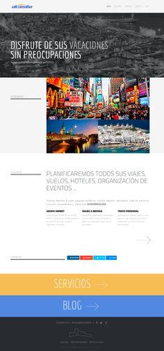Portal diseñado para una Agencia de Viajes localizada en Almería.