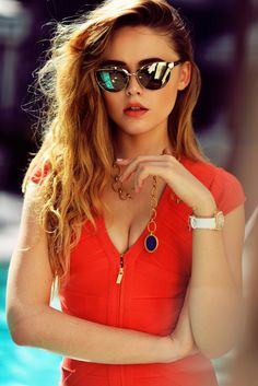 DRESS : Omnitrade (Similar Here) SUNNIES : Gucci (Similar Here) JEWELRY : Piaget  PIAGET Fashion Shoot ~  Los Angeles / March 1, 2014 ~ KAYTURE