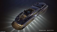 Xhibitionist luxury super-yacht by Gray Design, designed with the flowing lines of an Art Nouveau masterpiece and automotive styling. Images © Gray Design The… Yacht Design, Boat Design, 3d Design, Super Yachts, Most Expensive Yacht, Ski Nautique, Spiegel Online, Power Boats, Batmobile