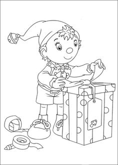 Noddy Coloring Pages 19