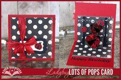 Karen Burniston Ladybug Lots of Pops Card! Simple Pleasures Stamps and Scrapbooking.