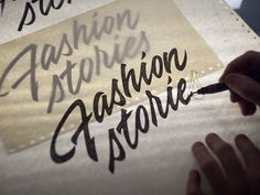 Winter 33: Fresh calligraphy and lettering shots, 2015 on Behance