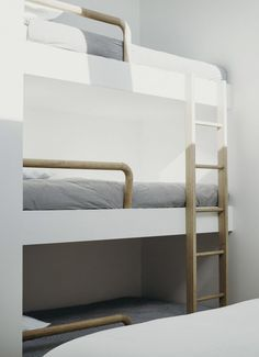 Free DIY Bunk Bed Plans & Ideas that Will Save a Lot of Bedroom Space - Outstanding 3 tier triple bunk bed exclusive on popi home decor - Bunk Beds Boys, Bunk Bed Plans, Wood Bunk Beds, Modern Bunk Beds, Bunk Beds With Stairs, Kid Beds, 3 Tier Bunk Beds, Loft Beds, Modern Bedding