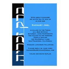 Bar Mitzvah Invitation Zachary Hebrew Blue in each seller & make purchase online for cheap. Choose the best price and best promotion as you thing Secure Checkout you can trust Buy bestThis Deals Bar Mitzvah Invitation Zachary Hebrew Blue lowest price Fast Shipping and save y...
