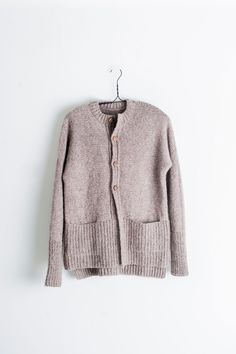 walnut cardigan by pam allen / from plain & simple: 11 knits to wear every day / in quince & co. owl, color sokoke