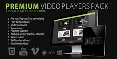 Buy 6 Video Players Mega Pack - Wordpress & by _CreativeMedia_ on CodeCanyon. Video Slider, Wordpress Plugins, Ecommerce, Display Ads, Video Advertising, Show Video, Mega Pack, Web Design Tutorials, Packing