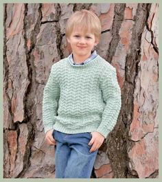 Озорные петельки: Пуловер для мальчика