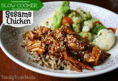 Sweet Slow Cooker Sesame Chicken Recipe
