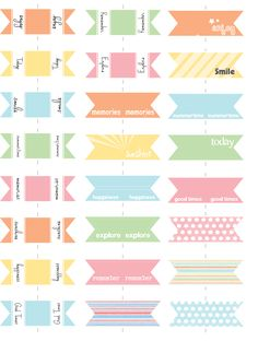 Free printable Mini Flags