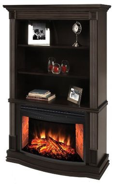 Muskoka Picton Electric Fireplace with curved firebox and bookshelves by Muskoka, http://www.amazon.com/dp/B006A69XL0/ref=cm_sw_r_pi_dp_kAURqb1XK4YBG