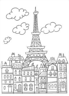 Paris buildings eiffel tower cute coloring page to download on ratatouille free printable coloring pages no 18 thecheapjerseys Gallery