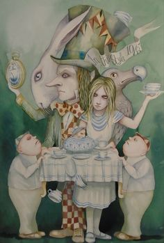 """""""DO JOIN ME, THERE'S PLENTY OF ROOM!"""" SAID THE HATTER! BY DOMINIC MURPHY"""