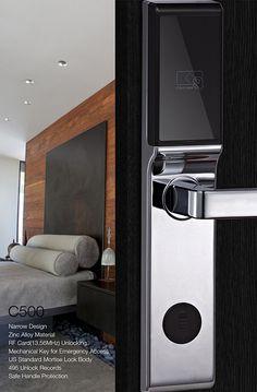 hotel door lock with zinc alloy Hotel Door Locks, Entry Door Locks, Smart Door Locks, Contemporary Front Doors, Modern Door, Old Door Projects, Locker Designs, Sliding Door Window Treatments, Closet Door Makeover