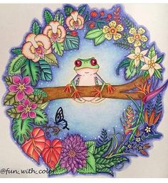 Take a peek at this great artwork on Johanna Basford's Colouring Gallery! Johanna Basford Books, Johanna Basford Coloring Book, Magical Jungle Johanna Basford, Enchanted Forest Coloring Book, Happy Little Trees, Secret Garden Coloring Book, Little Doodles, Colouring Techniques, Coloring Book Pages