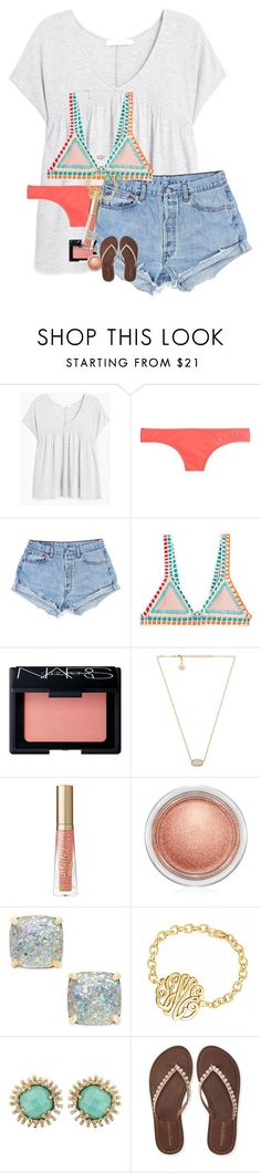 """""""Finally the weekend!! """" by erinlmarkel ❤ liked on Polyvore featuring MANGO, J.Crew, kiini, NARS Cosmetics, Kendra Scott, Too Faced Cosmetics, MAC Cosmetics, Kate Spade and Aéropostale"""